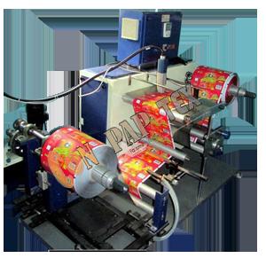 Industrial Inkjet Printer With Winder Rewinder Machine